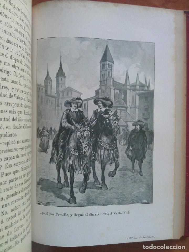 Libros antiguos: 1874 ? HISTORIA DE GIL BLAS DE SANTILLANA - LESAGE / DOS TOMOS - 40 LÁMINAS - Foto 2 - 175692340