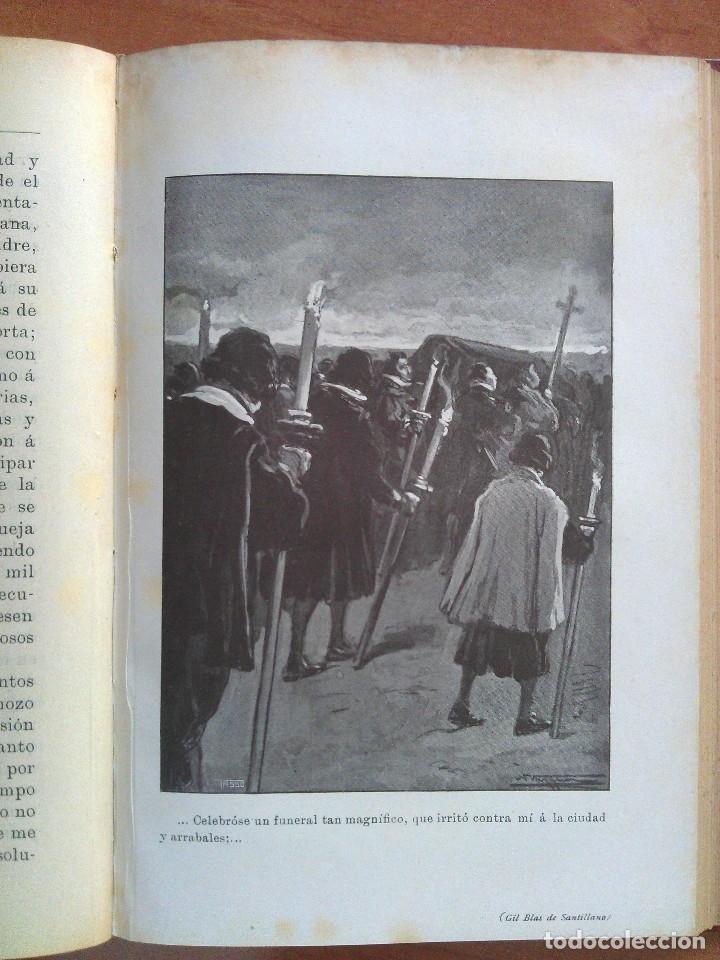 Libros antiguos: 1874 ? HISTORIA DE GIL BLAS DE SANTILLANA - LESAGE / DOS TOMOS - 40 LÁMINAS - Foto 3 - 175692340