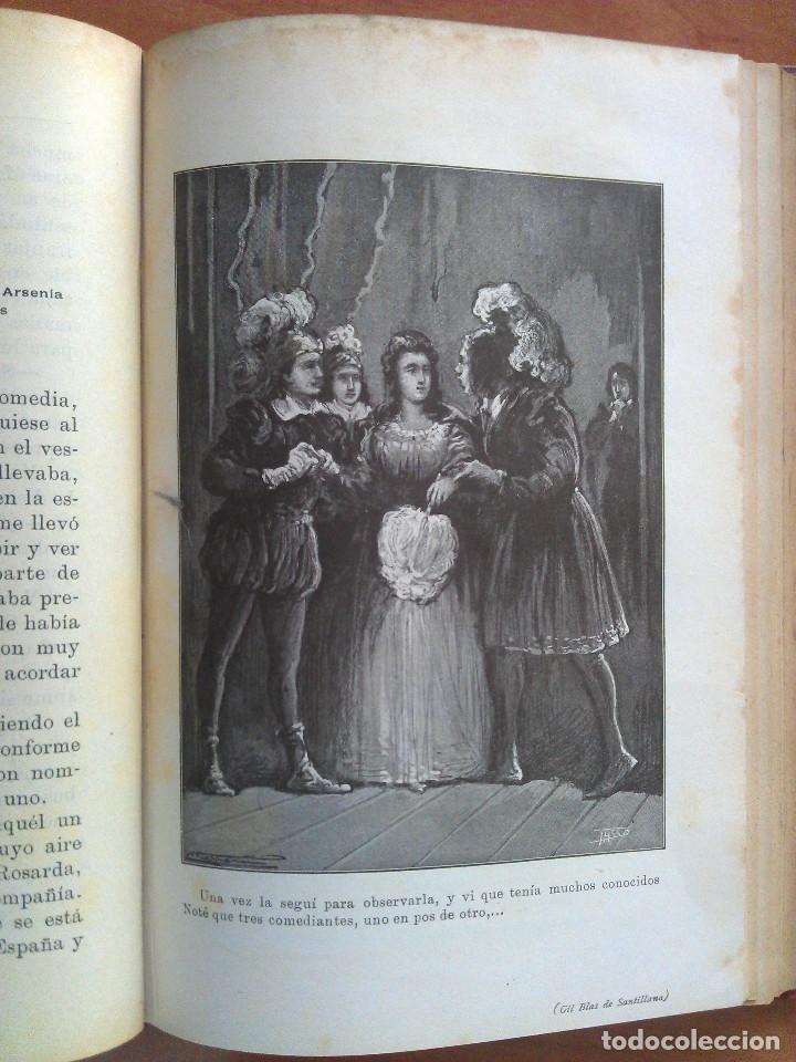 Libros antiguos: 1874 ? HISTORIA DE GIL BLAS DE SANTILLANA - LESAGE / DOS TOMOS - 40 LÁMINAS - Foto 4 - 175692340