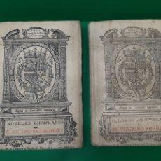 Libros antiguos: NOVELAS EJEMPLARES. MIGUEL DE CERVANTES SAAVEDRA. DOS TOMOS. VALLADOLID, CASA CERVANTES, 1916.. Lote 175832293