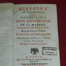 Libros antiguos: (M5.3) DON QUIJOTE DE LA MANCHA MICHEL DE CERVANTES - HISTOIRE L'ADMIRABLE DON QUICHOTTE MDCCLXXVII. Lote 175996237