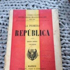 Libros antiguos: EPISODIOS NACIONALES BENITO PÉREZ GALDÓS. 9 TOMOS.. Lote 176724799