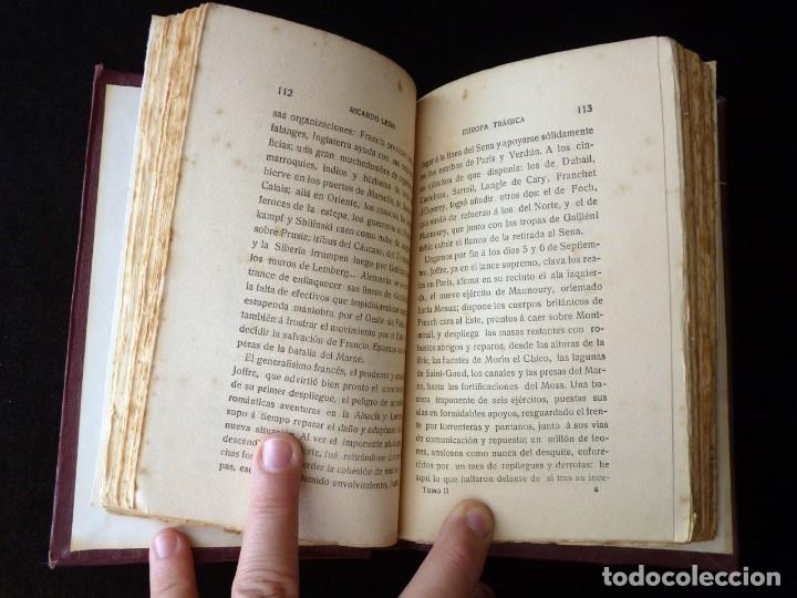 Libros antiguos: EUROPA TRÁGICA, TOMO II. COLECCIÓN OBRAS COMPLETAS X. RICARDO LEÓN. SUCESORES DE HERNANDO, 1919 - Foto 3 - 178794572