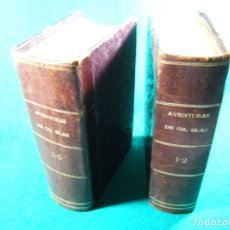 Libros antiguos: AVENTURAS DE GIL BLAS DE SANTILLANA-ROBADAS A ESPAÑA-MONSIEUR LE SAGE-COMPLETA 4 TOMOS EN DOS-1817. . Lote 181000828