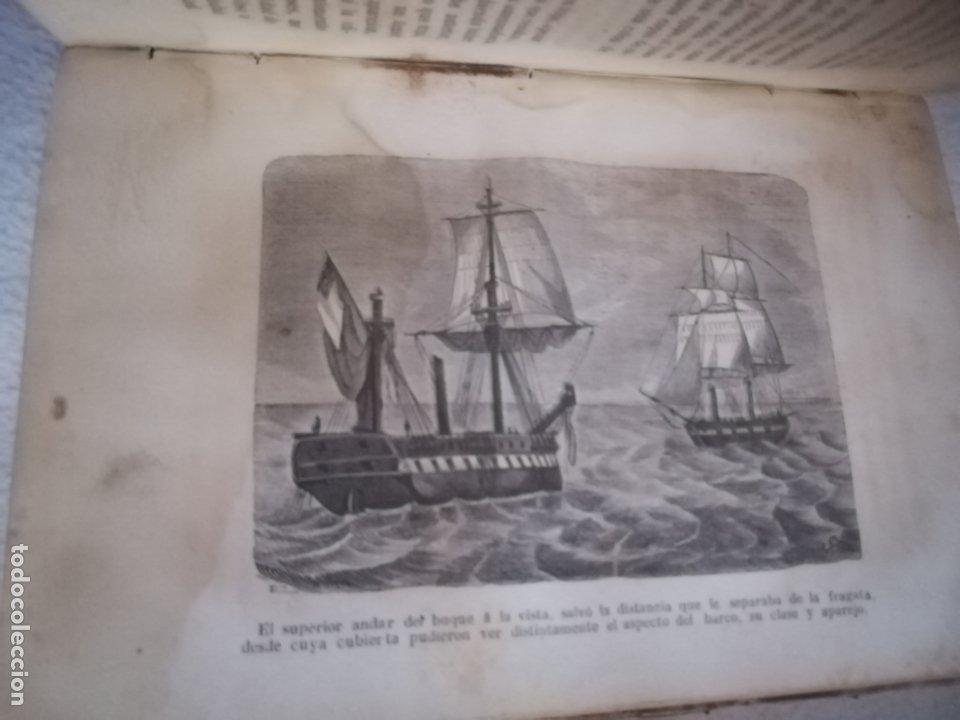 Libros antiguos: EL MILANO DE LOS MARES. ALEJANDRO BENISIA. 4 TOMOS EN 2 VOLUMENES. 1855. SEVILLA. VER GRABADOS. LEER - Foto 2 - 181863553