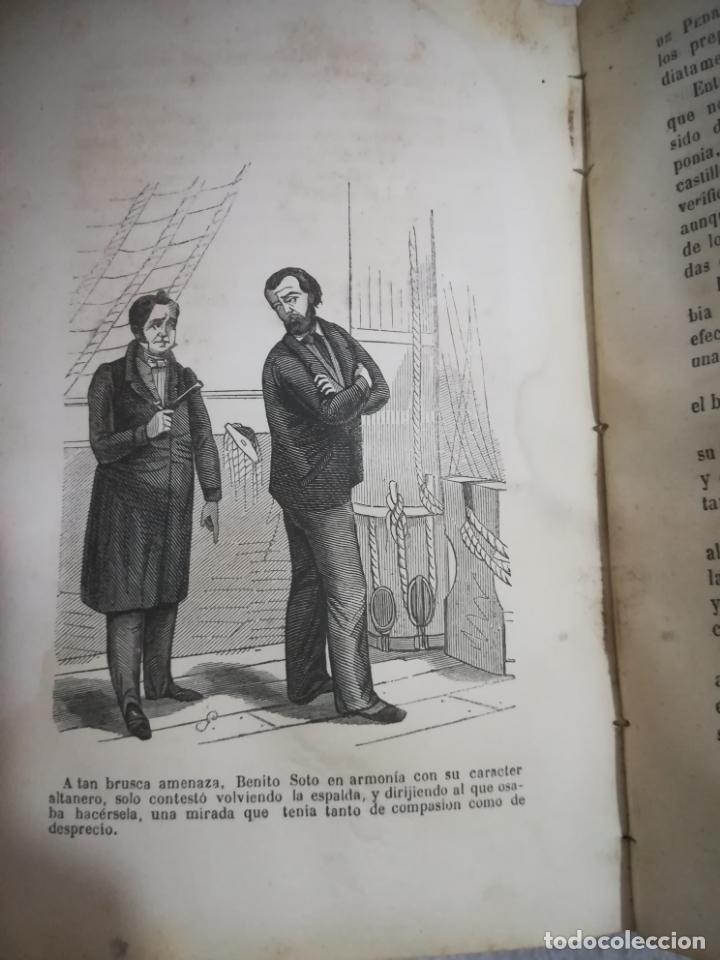Libros antiguos: EL MILANO DE LOS MARES. ALEJANDRO BENISIA. 4 TOMOS EN 2 VOLUMENES. 1855. SEVILLA. VER GRABADOS. LEER - Foto 3 - 181863553