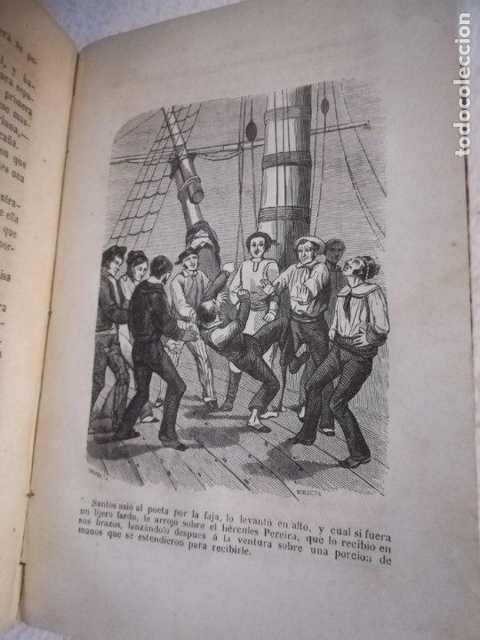 Libros antiguos: EL MILANO DE LOS MARES. ALEJANDRO BENISIA. 4 TOMOS EN 2 VOLUMENES. 1855. SEVILLA. VER GRABADOS. LEER - Foto 9 - 181863553