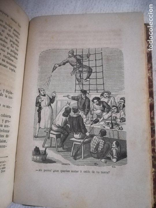 Libros antiguos: EL MILANO DE LOS MARES. ALEJANDRO BENISIA. 4 TOMOS EN 2 VOLUMENES. 1855. SEVILLA. VER GRABADOS. LEER - Foto 10 - 181863553