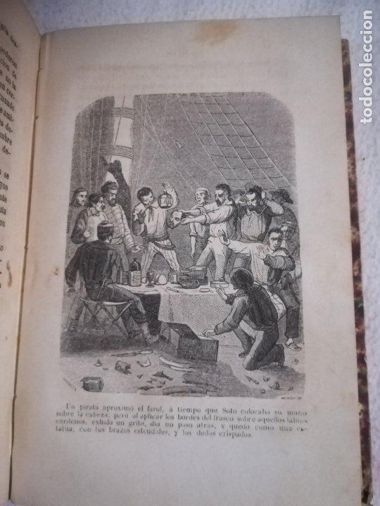 Libros antiguos: EL MILANO DE LOS MARES. ALEJANDRO BENISIA. 4 TOMOS EN 2 VOLUMENES. 1855. SEVILLA. VER GRABADOS. LEER - Foto 11 - 181863553