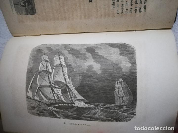 Libros antiguos: EL MILANO DE LOS MARES. ALEJANDRO BENISIA. 4 TOMOS EN 2 VOLUMENES. 1855. SEVILLA. VER GRABADOS. LEER - Foto 12 - 181863553