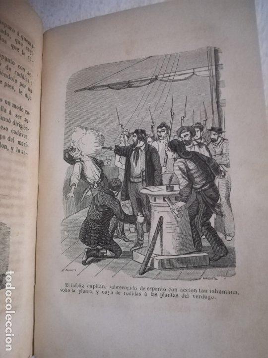 Libros antiguos: EL MILANO DE LOS MARES. ALEJANDRO BENISIA. 4 TOMOS EN 2 VOLUMENES. 1855. SEVILLA. VER GRABADOS. LEER - Foto 13 - 181863553