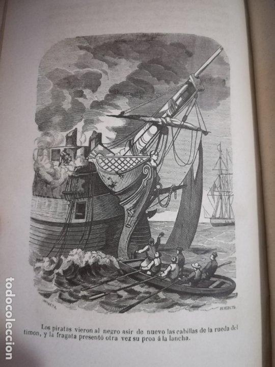 Libros antiguos: EL MILANO DE LOS MARES. ALEJANDRO BENISIA. 4 TOMOS EN 2 VOLUMENES. 1855. SEVILLA. VER GRABADOS. LEER - Foto 14 - 181863553