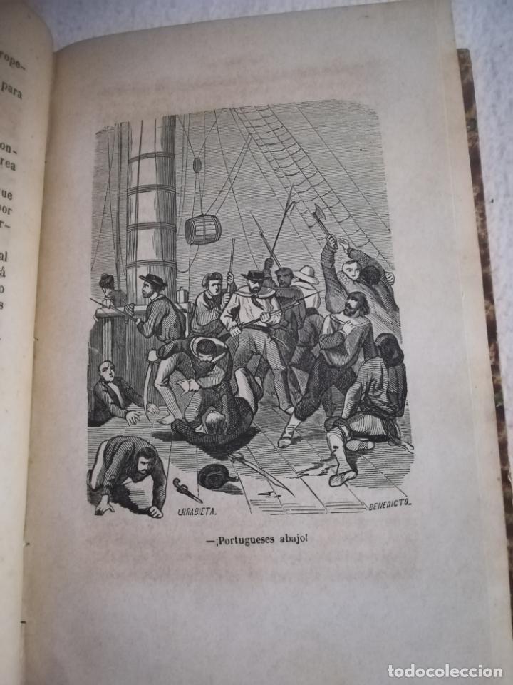 Libros antiguos: EL MILANO DE LOS MARES. ALEJANDRO BENISIA. 4 TOMOS EN 2 VOLUMENES. 1855. SEVILLA. VER GRABADOS. LEER - Foto 15 - 181863553
