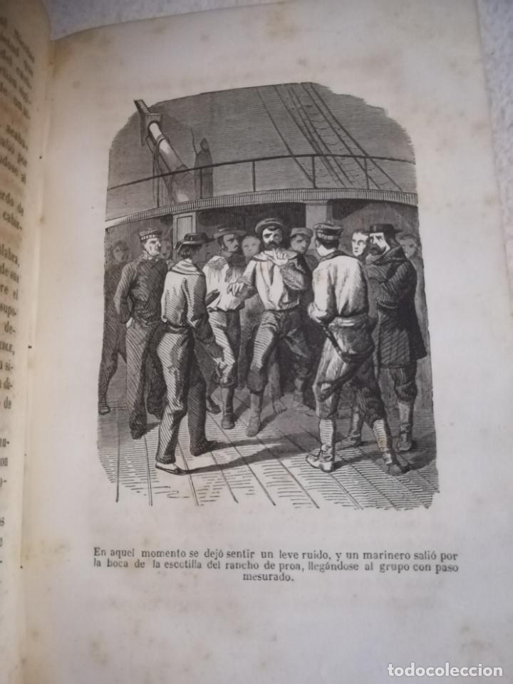 Libros antiguos: EL MILANO DE LOS MARES. ALEJANDRO BENISIA. 4 TOMOS EN 2 VOLUMENES. 1855. SEVILLA. VER GRABADOS. LEER - Foto 16 - 181863553