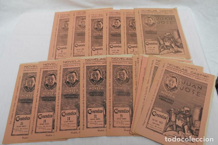 Libros antiguos: LOTE 21 CUPON, FASCICULOS, NOVELAS CASTRO. NOVELS AÑO 1933, JUAN JOSE - Foto 2 - 184047281