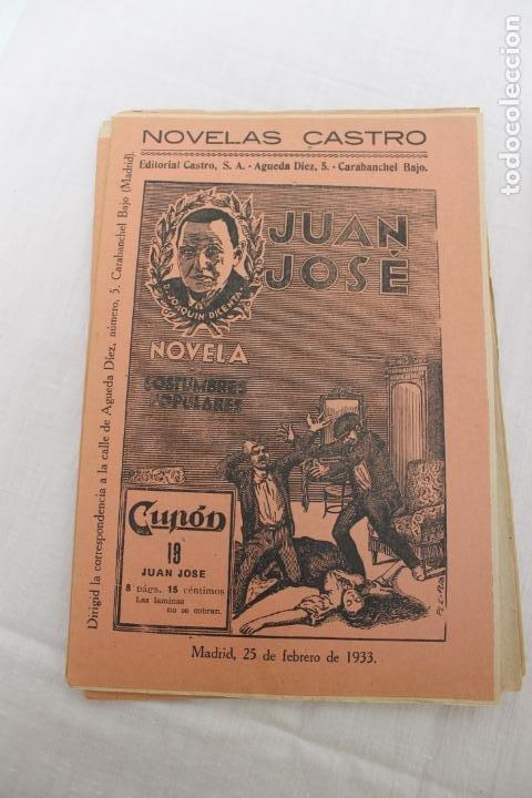 Libros antiguos: LOTE 21 CUPON, FASCICULOS, NOVELAS CASTRO. NOVELS AÑO 1933, JUAN JOSE - Foto 3 - 184047281