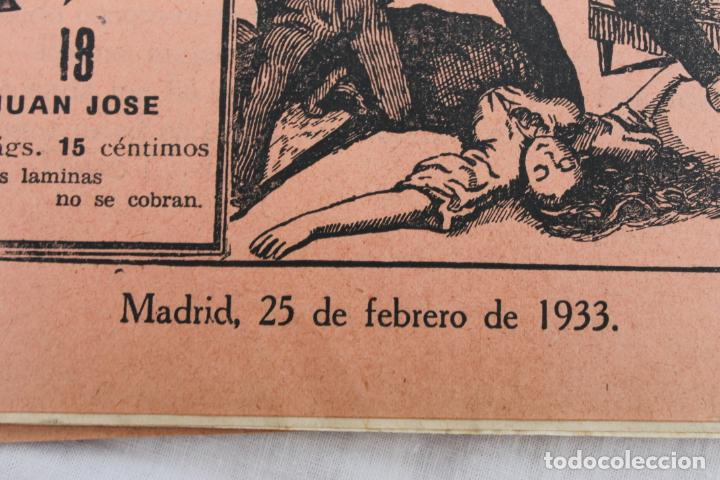Libros antiguos: LOTE 21 CUPON, FASCICULOS, NOVELAS CASTRO. NOVELS AÑO 1933, JUAN JOSE - Foto 4 - 184047281