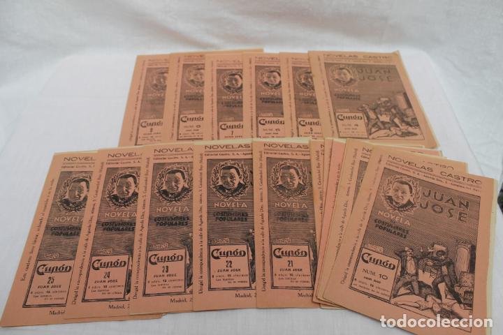 LOTE 21 CUPON, FASCICULOS, NOVELAS CASTRO. NOVELS AÑO 1933, JUAN JOSE (Libros antiguos (hasta 1936), raros y curiosos - Literatura - Narrativa - Novela Histórica)