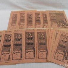 Libros antiguos: LOTE 21 CUPON, FASCICULOS, NOVELAS CASTRO. NOVELS AÑO 1933, JUAN JOSE. Lote 184047281