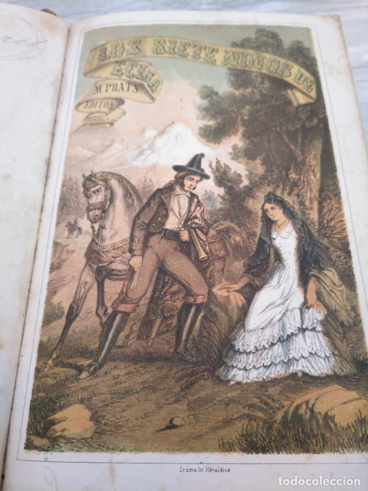 LOS SIETE NIÑOS DE ÉCIJA (1863) - ILUSTRADO CON 17 LÁMINAS (Libros antiguos (hasta 1936), raros y curiosos - Literatura - Narrativa - Novela Histórica)