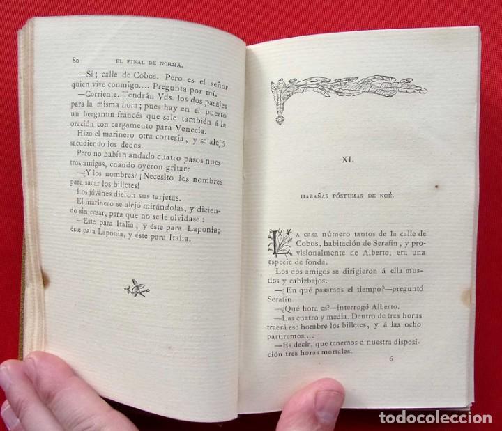 Libros antiguos: EL FINAL DE NORMA. MADRID. AÑO: 1883. PEDRO ANTONIO DE ALARCON. - Foto 5 - 187377716