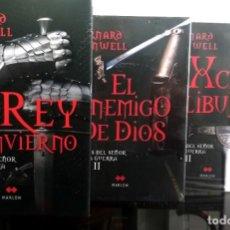 Libros antiguos: TRILOGÍA CRÓNICAS DEL SEÑOR DE LA GUERRA (BERNARD CORNWELL) NUEVOS - 2 PRECINTADOS. Lote 187464246