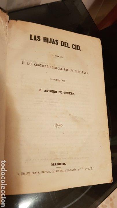 LAS HIJAS DEL CID. ANTONIO DE TRUEBA. MADRID 1859. NOVELA SIGLO XIX. (Libros antiguos (hasta 1936), raros y curiosos - Literatura - Narrativa - Novela Histórica)