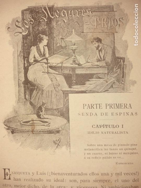 Libros antiguos: LOS HOGARES FRIOS - Foto 2 - 194340407