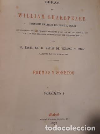 LIBRO OBRAS DE WILLIAM SHAKESPEARE AÑO 1877 TAPA BLANDA (Libros antiguos (hasta 1936), raros y curiosos - Literatura - Narrativa - Novela Histórica)