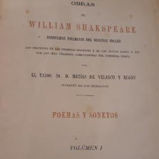 Libros antiguos: LIBRO OBRAS DE WILLIAM SHAKESPEARE AÑO 1877 TAPA BLANDA. Lote 194640045