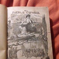 Libros antiguos: EL PUEBLO ESPAÑOL, VICTIMA DE LOS PARTIDOS POLÍTICOS. AUGUSTO BARBIER. LAMINAS.. Lote 195017447