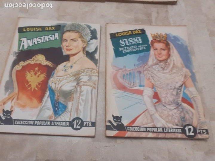Libros antiguos: lote 6 ejemplares de la Coleccion Popular Literaria y tapas para encuadernar de la epoca - Foto 2 - 195092700