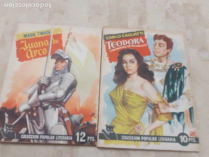 Libros antiguos: lote 6 ejemplares de la Coleccion Popular Literaria y tapas para encuadernar de la epoca - Foto 3 - 195092700