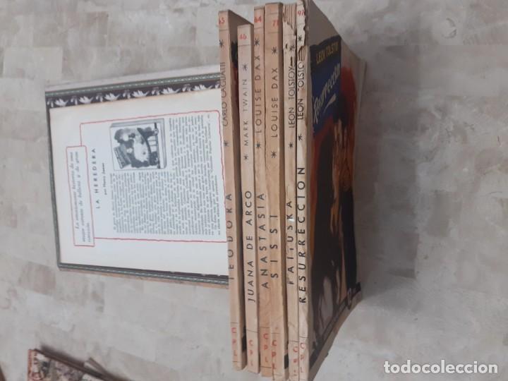 Libros antiguos: lote 6 ejemplares de la Coleccion Popular Literaria y tapas para encuadernar de la epoca - Foto 5 - 195092700