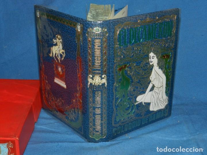 Libros antiguos: (MLIT) GIOVANNI BOCCACCIO - EL DECAMERÓN PIETRO ARETINO COLOQUIO DE DAMAS LA CORTESANA 1971 - Foto 2 - 195202268