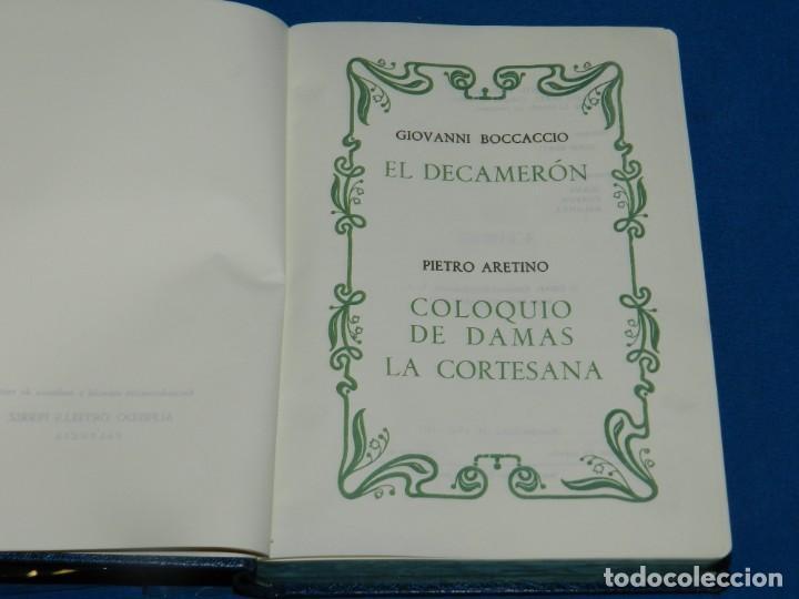 Libros antiguos: (MLIT) GIOVANNI BOCCACCIO - EL DECAMERÓN PIETRO ARETINO COLOQUIO DE DAMAS LA CORTESANA 1971 - Foto 3 - 195202268