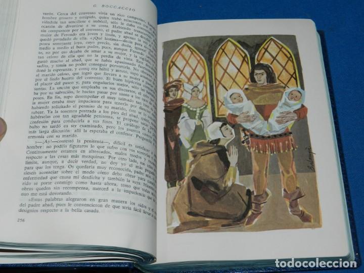 Libros antiguos: (MLIT) GIOVANNI BOCCACCIO - EL DECAMERÓN PIETRO ARETINO COLOQUIO DE DAMAS LA CORTESANA 1971 - Foto 4 - 195202268