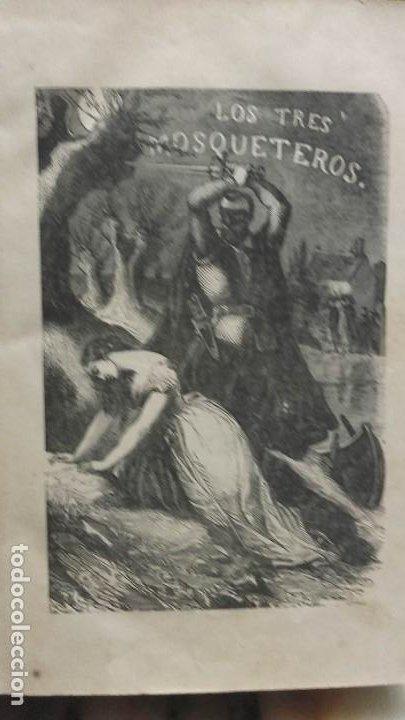 Libros antiguos: Los tres mosqueteros, Alejandro Dumas, edicion ilustrada 1859. - Foto 4 - 195242308