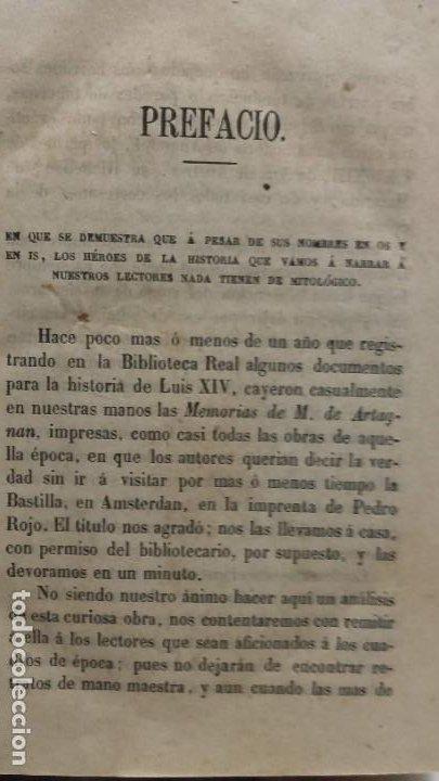 Libros antiguos: Los tres mosqueteros, Alejandro Dumas, edicion ilustrada 1859. - Foto 5 - 195242308