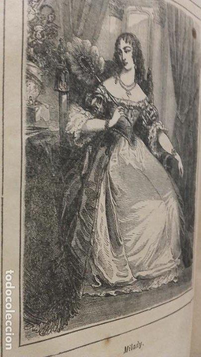Libros antiguos: Los tres mosqueteros, Alejandro Dumas, edicion ilustrada 1859. - Foto 6 - 195242308
