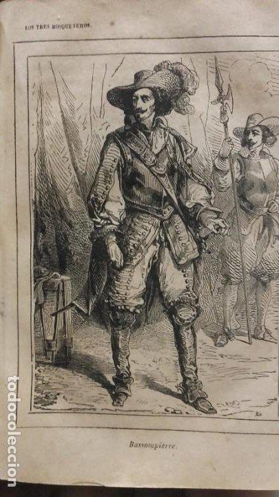 Libros antiguos: Los tres mosqueteros, Alejandro Dumas, edicion ilustrada 1859. - Foto 7 - 195242308