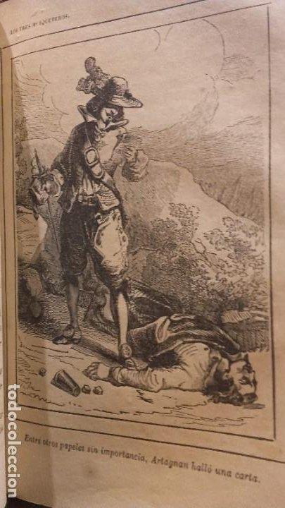 Libros antiguos: Los tres mosqueteros, Alejandro Dumas, edicion ilustrada 1859. - Foto 10 - 195242308