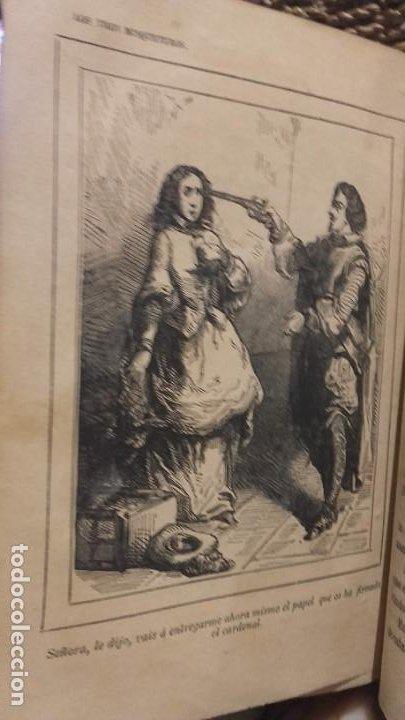 Libros antiguos: Los tres mosqueteros, Alejandro Dumas, edicion ilustrada 1859. - Foto 11 - 195242308
