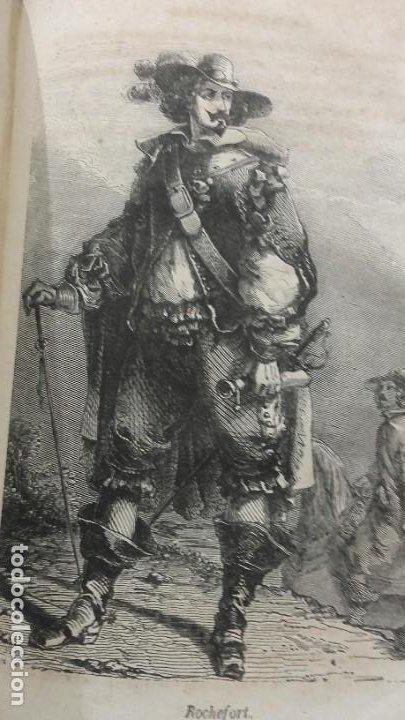 Libros antiguos: Los tres mosqueteros, Alejandro Dumas, edicion ilustrada 1859. - Foto 12 - 195242308