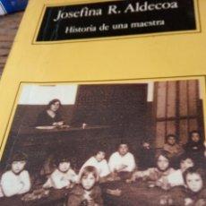 Libros antiguos: JOSEFINA R. ALDECOA HISTORIA DE UNA MAESTRA. Lote 195264921