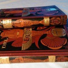 Libros antiguos: LA HIJA DEL REY DE EGIPTO- JORGE EBERS- DIBUJOS A PLUMA APELES MESTRES - 1881- TOMOS I Y II. Lote 237545495