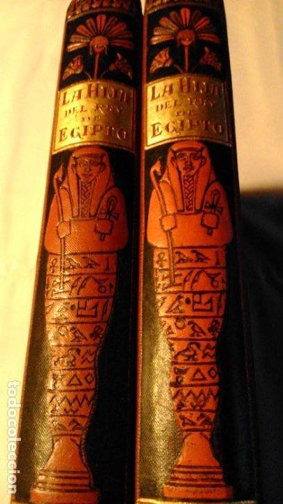 Libros antiguos: LA HIJA DEL REY DE EGIPTO- JORGE EBERS- DIBUJOS A PLUMA APELES MESTRES - 1881- TOMOS I Y II - Foto 3 - 195337812