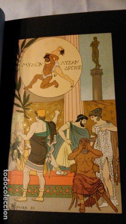 Libros antiguos: LA HIJA DEL REY DE EGIPTO- JORGE EBERS- DIBUJOS A PLUMA APELES MESTRES - 1881- TOMOS I Y II - Foto 8 - 195337812