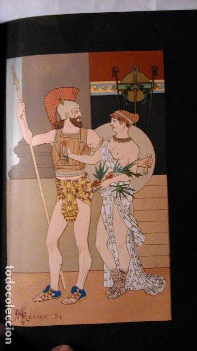 Libros antiguos: LA HIJA DEL REY DE EGIPTO- JORGE EBERS- DIBUJOS A PLUMA APELES MESTRES - 1881- TOMOS I Y II - Foto 13 - 195337812