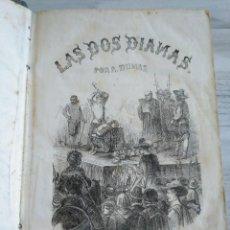 Libros antiguos: LAS DOS DIANAS - ALEJANDRO DUMAS (1858) - TOMO PRIMERO - ILUSTRADO. Lote 195704100